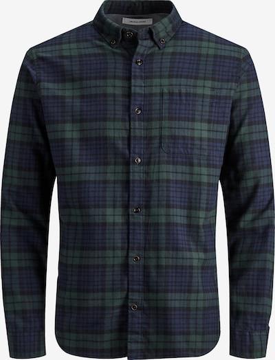 JACK & JONES Hemd 'WASHINGTON' in marine / oliv, Produktansicht