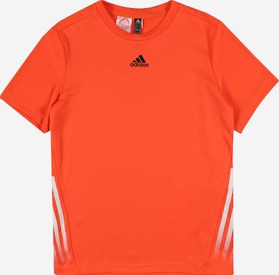 ADIDAS PERFORMANCE T-Shirt fonctionnel en orange / noir / blanc, Vue avec produit