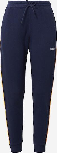 Pantaloni sport Reebok Sport pe bleumarin / galben citron / alb, Vizualizare produs