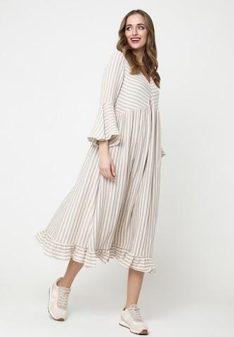 Madam-T Sommerkleid in Beige