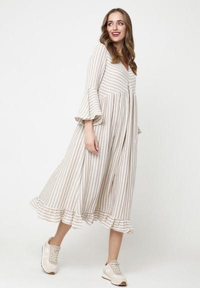 Madam-T Sommerkleid in beige / weiß, Modelansicht