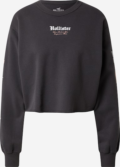 HOLLISTER Sweat-shirt en gris foncé / rose / blanc, Vue avec produit