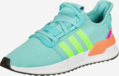 ADIDAS ORIGINALS Sneaker 'U Path' in aqua / neongrün / orange, Produktansicht