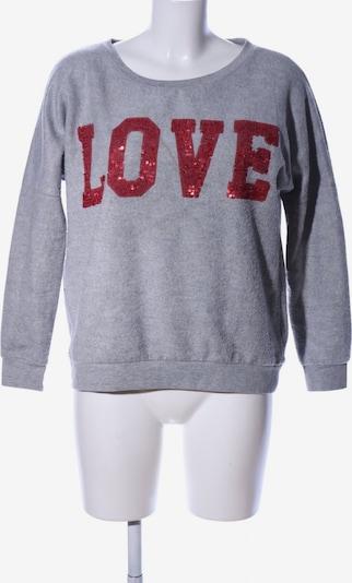 miss goodlife Sweatshirt in S in hellgrau / rot, Produktansicht