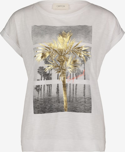 Cartoon Shirt in gold / grau / weiß, Produktansicht