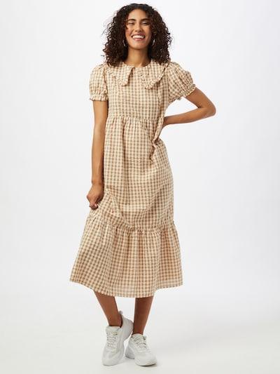 Rochie tip bluză 'NORI' Cotton On pe caramel / alb, Vizualizare model