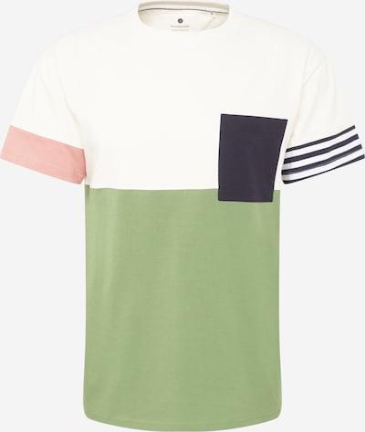 anerkjendt Тениска 'AKKIKKI' в морскосиньо / маслина / бледорозово / бяло: Изглед отпред