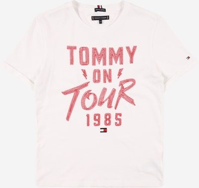 TOMMY HILFIGER T-Shirt 'TOMMY ON TOUR' en rouge chiné / blanc, Vue avec produit