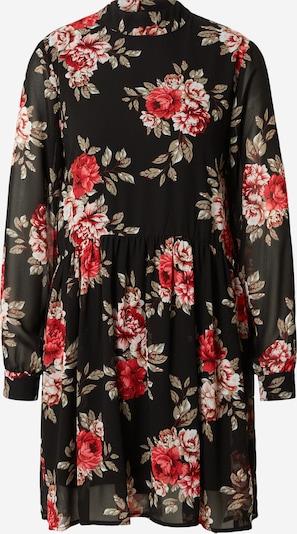VILA Skjortklänning i grön / karminröd / svart / vit, Produktvy
