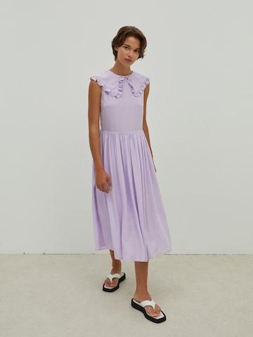 EDITED Košeľové šaty 'Finley' - fialová