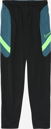 Sportinės kelnės 'Academy' iš NIKE , spalva - mėlyna dūmų spalva / neoninė žalia / juoda, Prekių apžvalga