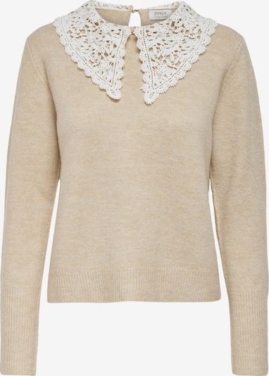 Megztinis 'LILJA' iš ONLY, spalva – smėlio spalva / balta, Prekių apžvalga
