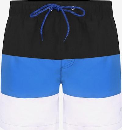 Threadbare Shorts de bain en bleu clair / noir / blanc, Vue avec produit