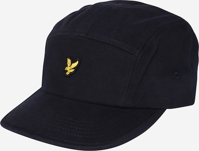 Lyle & Scott Cap 'Five Panel' in navy / gelb, Produktansicht