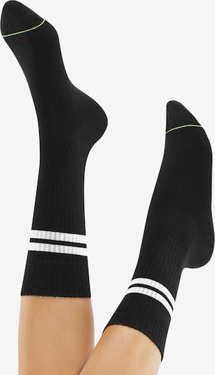 CHEERIO* Къси чорапи 'TENNIS TYPE 4P' в черно: Изглед отзад