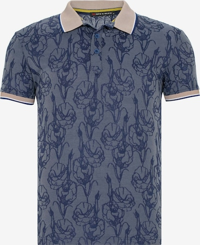 CIPO & BAXX Shirt in de kleur Donkerblauw / Grijs, Productweergave