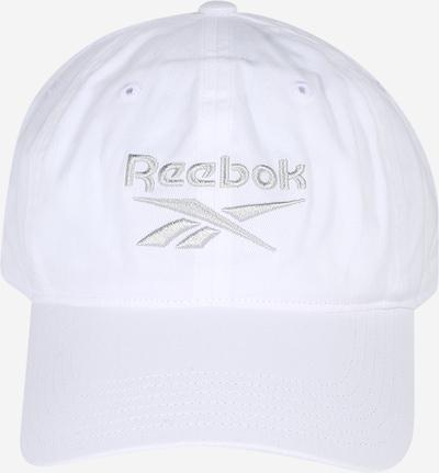 REEBOK Športna kapa | bela barva: Frontalni pogled