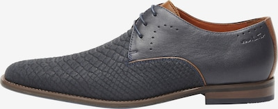 Van Lier Chaussure à lacets en bleu / marron, Vue avec produit