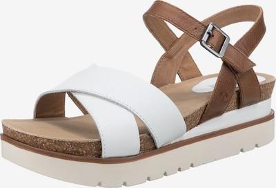 JOSEF SEIBEL Sandale in hellbraun / weiß, Produktansicht