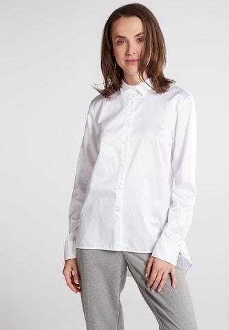 ETERNA Langarm Bluse in Weiß