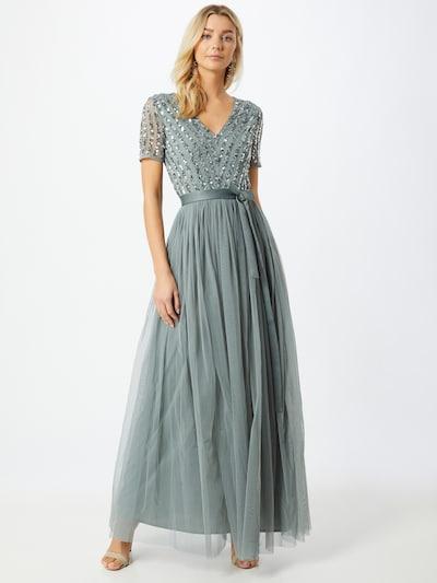 Maya Deluxe Abendkleid in hellgrün / silber, Modelansicht