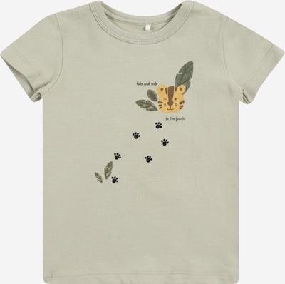 NAME IT Shirt 'JACOB' in cognac / pastellgrün / dunkelgrün / schwarz, Produktansicht