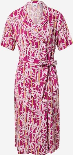 QUIKSILVER Košeľové šaty - žltá / tmavoružová / biela: Pohľad spredu