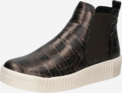 GABOR Chelsea Boots in dunkelbeige / schwarz, Produktansicht