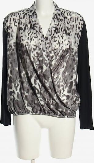 Cassis Wickel-Bluse in M in hellgrau / schwarz / weiß, Produktansicht