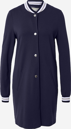 Amber & June Between-seasons coat in Navy / Light grey / White, Item view