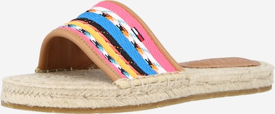 Tommy Jeans Pantolette in blau / gelb / mischfarben / pink / weiß, Produktansicht