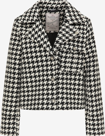 DreiMaster Vintage Blazer in schwarz / weiß, Produktansicht