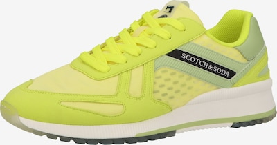 sárga / pasztellzöld / fekete / fehér SCOTCH & SODA Rövid szárú edzőcipők, Termék nézet