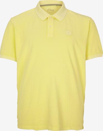 s.Oliver Men Big Sizes Poloshirt in hellgelb, Produktansicht
