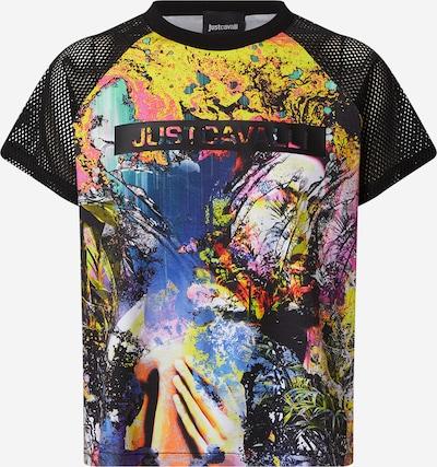 Just Cavalli T-shirt en mélange de couleurs / noir, Vue avec produit