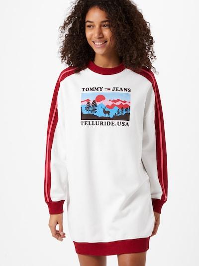 Tommy Jeans Šaty - modrá / ružová / červená / čierna / biela, Model/-ka