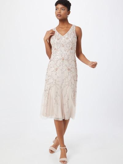 Adrianna Papell Kleid in beige / rosegold / silber, Modelansicht