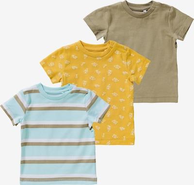 NAME IT T-Shirt 'Henri' in blau / gelb / oliv / weiß, Produktansicht