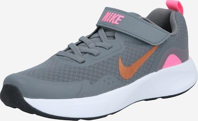 Nike Sportswear Baskets en gris / orange / rose, Vue avec produit