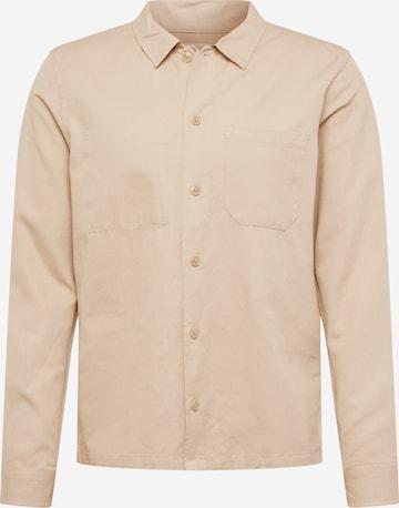 Samsoe Samsoe Button Up Shirt 'Ruffo' in Beige