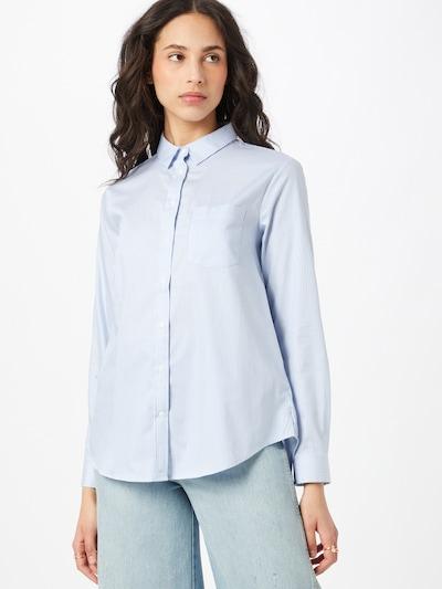 Superdry Bluse in hellblau / weiß, Modelansicht