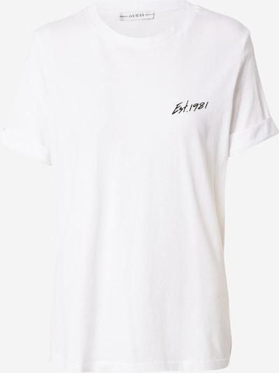 Tricou 'GINETTE' GUESS pe negru / alb, Vizualizare produs