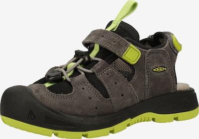 KEEN Sandalen in anthrazit / hellgrün, Produktansicht