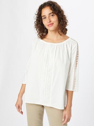 Bluză de la TAIFUN pe alb