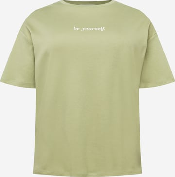 NU-IN Plus Oversized Shirt 'Be Yourself' in Green