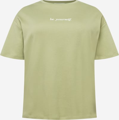 NU-IN Plus Camiseta talla grande 'Be Yourself' en manzana / blanco, Vista del producto