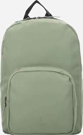 RAINS Rucksack in hellgrau / hellgrün / schwarz, Produktansicht