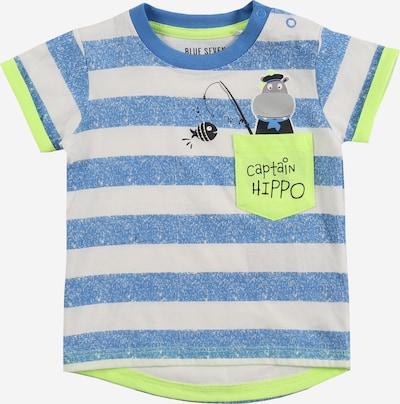 Marškinėliai iš BLUE SEVEN , spalva - mėlyna / žaliosios citrinos spalva / balta, Prekių apžvalga