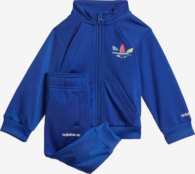 ADIDAS ORIGINALS Joggingpak 'Adicolor' in de kleur Blauw / Lichtblauw / Geel gemêleerd / Watermeloen rood / Wit, Productweergave