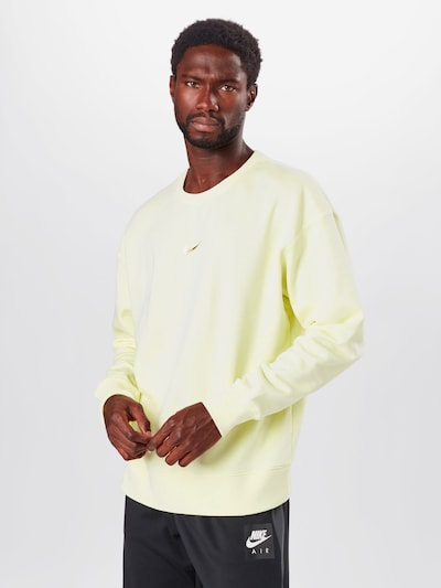 Nike Sportswear Sweatshirt in hellgelb: Frontalansicht